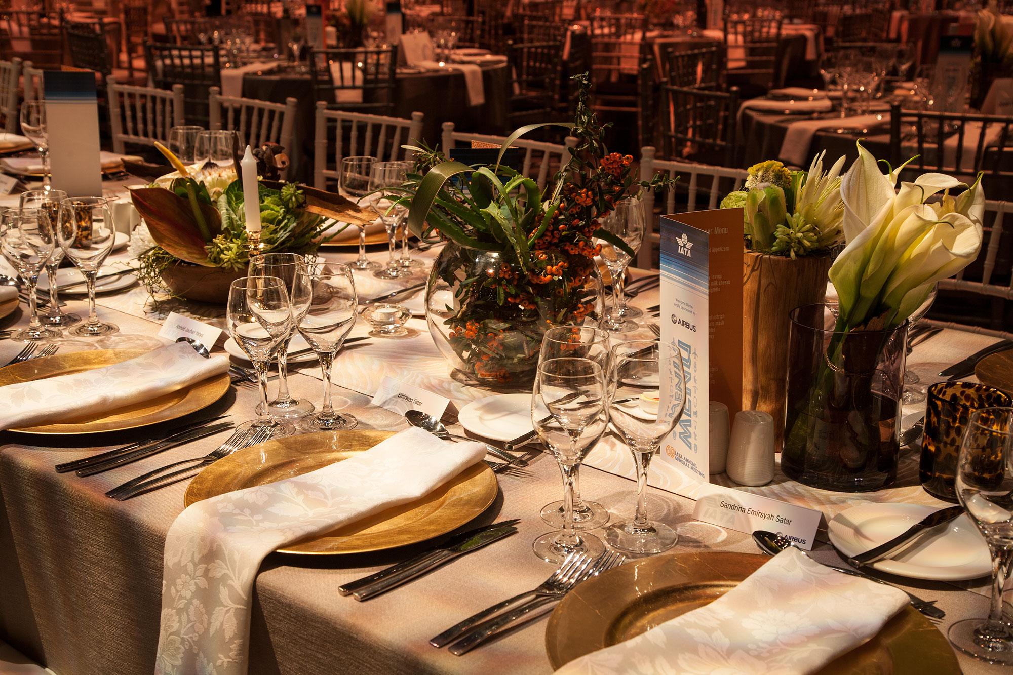 Event Design Airbus Gala Dinner