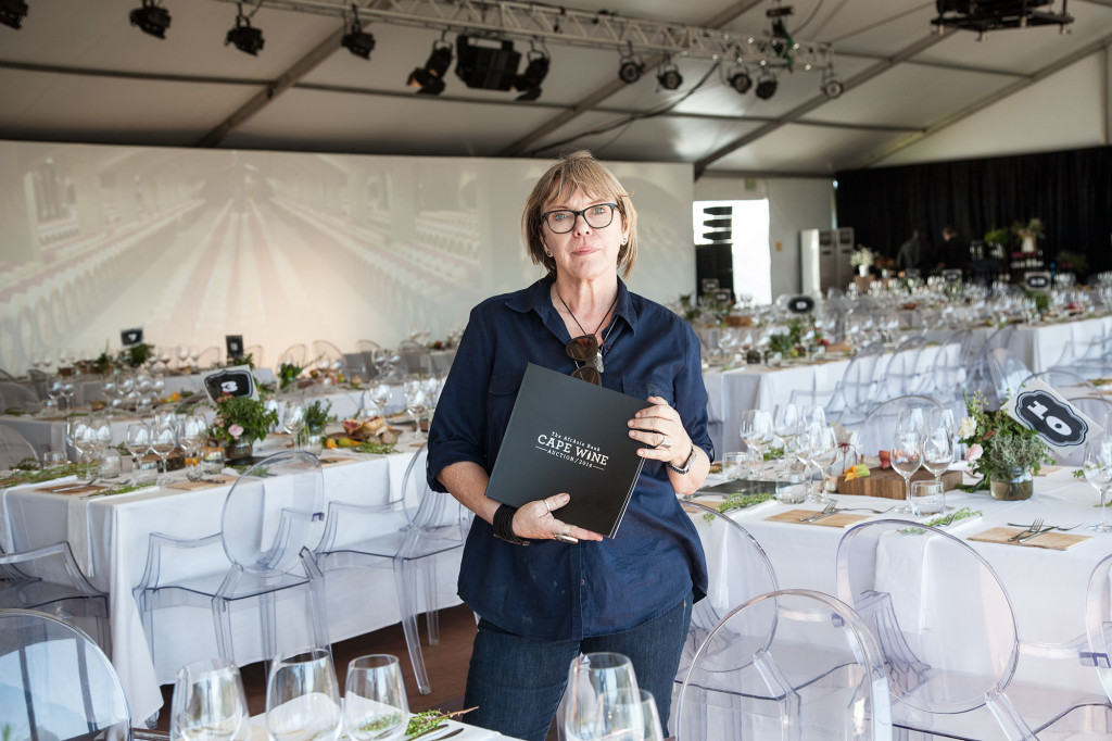 Kathy Page Wood at the Cape Wine Auction.
