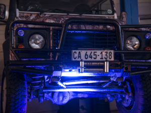 Land Rover entertains in its workshop